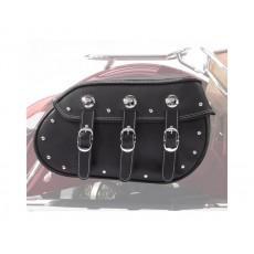 Genuine Leather 퀵 릴리즈 새들백 - Black