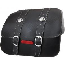 Genuine Leather 새들백 - Black