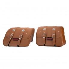 Genuine Leather 새들백 - Desert Tan
